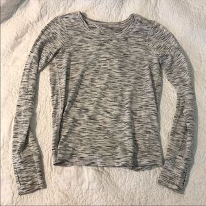 Lululemon tie back long sleeve top
